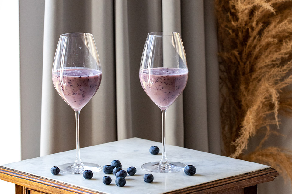 Recipe for blueberry cocktail