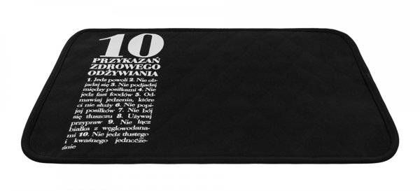 10 Commandments Placemat, Black