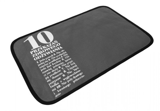 10 Commandments Placemat, Grey