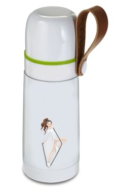Anna Lewandowska Steel Vacuum Flask, White, 350 ml