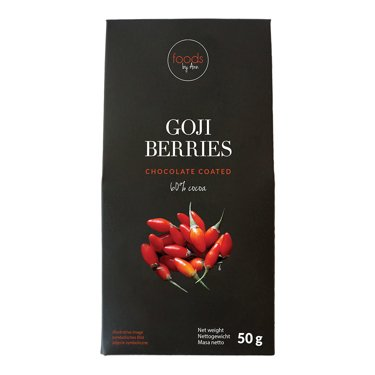 Dried goji berries with chocolate