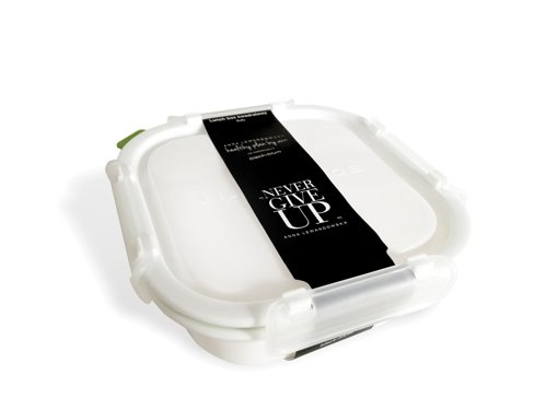 Large Square Lunch Box, White