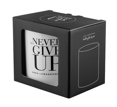 """Never Give Up"" Mug, White"