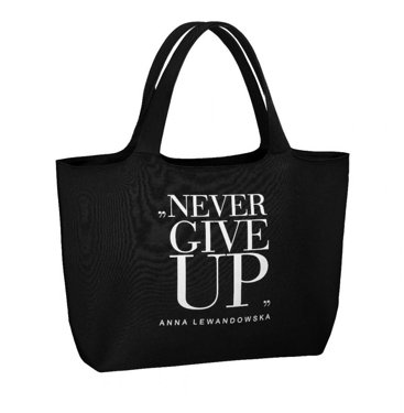 """Never Give Up"" Universal Bag, Black"