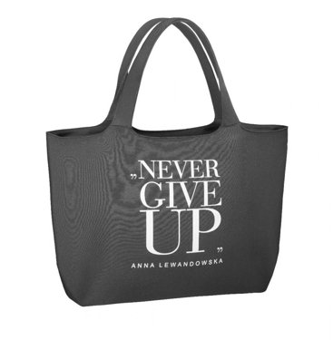"""Never Give Up"" Universal Bag, Grey"
