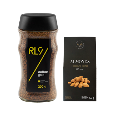 Set RL9 Coffee Gold instant freeze dried & Almonds with chocolate