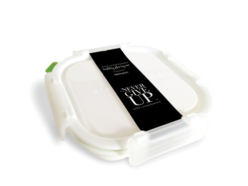 Small Square Lunch Box, White