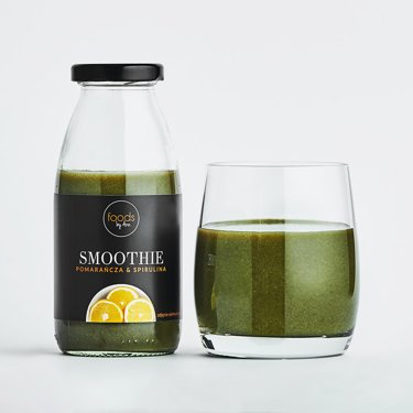 Orange & Spirulina Smoothie in a bottle, 250 ml