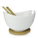 DUKA BAMBOO bowl with servers 28 cm white